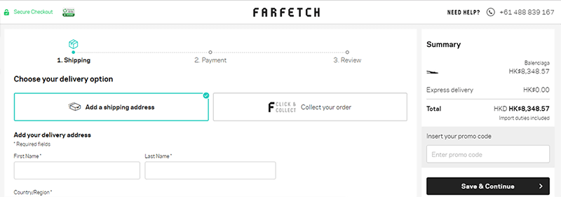 Farfetch Shopping Cart Promo Code